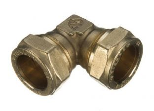 8mm compression fitting 90º Elbow (Bag of 5=£4.41)